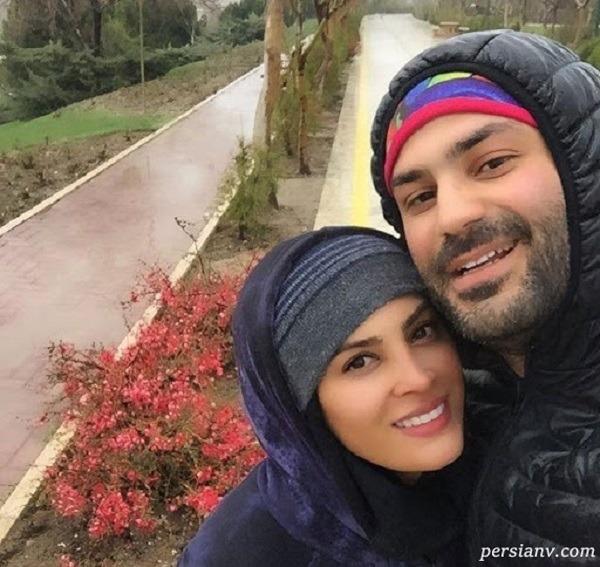 کیان مقدم و همسرش