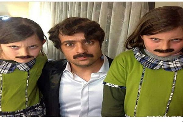 احمد مهرانفر در کنار سارا و نیکا فرقانی دو قلوهای پایتخت