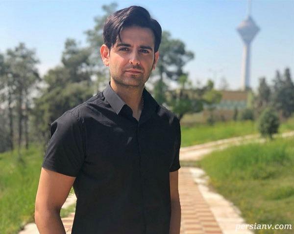 استایل امیرحسین آرمان بازیگر مانکن در باشگاه بدن سازی