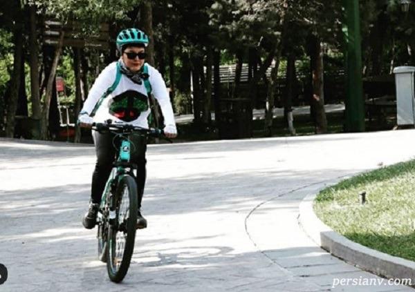 دوچرخه سواری آناهیتا همتی