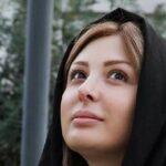 تغییر چهره نیوشا ضیغمی بازیگر زن ها فرشته اند با موهای مشکی