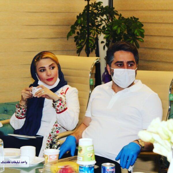 ژیلا صادقی و همسرش محسن رجبی
