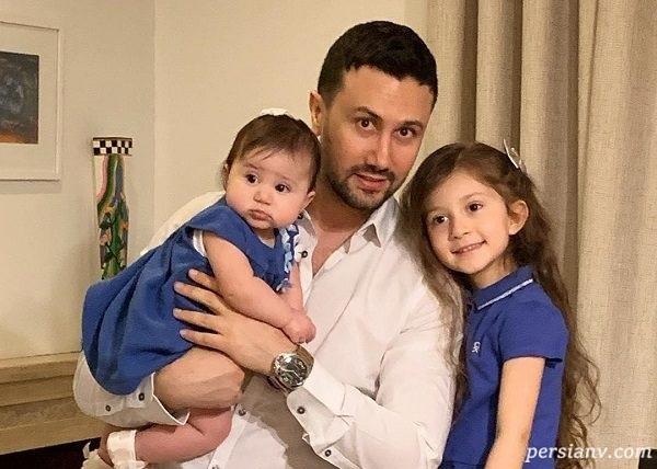 تصاویری زیبا از تولد دختر شاهرخ استخری در کنار پدر و مادرش