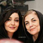 منوچهر هادی و ساره بیات در پشت صحنه فیلم رحمان۱۴۰۰
