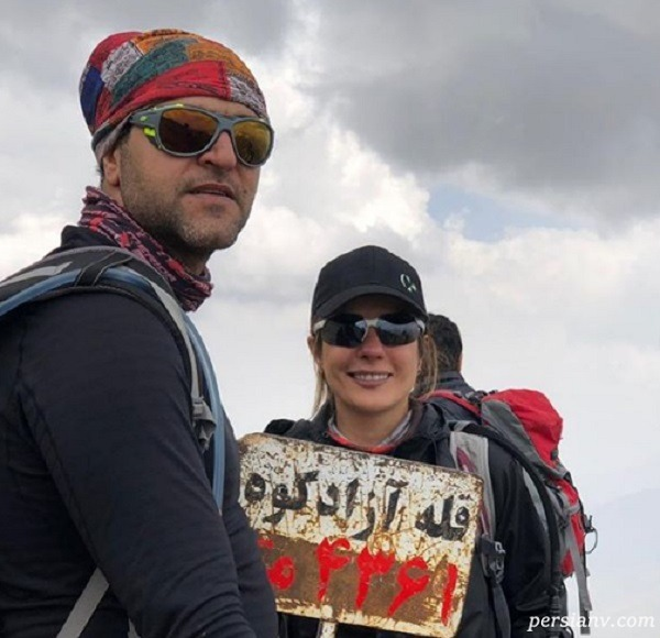 کوهنوردی خانم بازیگر