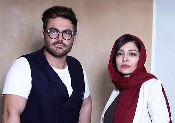 رضا گلزار و ساره بیات در سکانسی از سریال عاشقانه