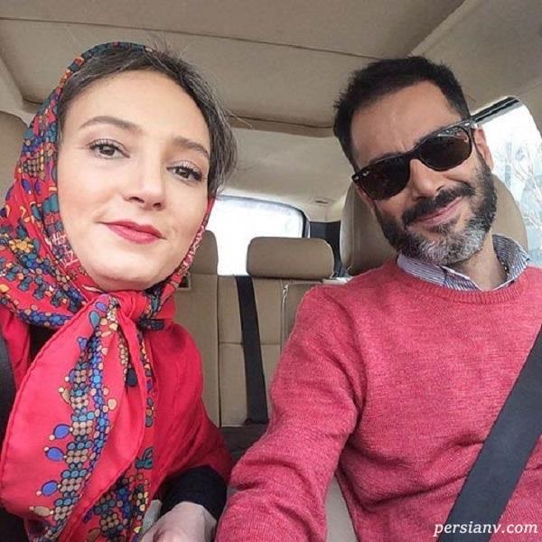 نیما فلاح و همسرش