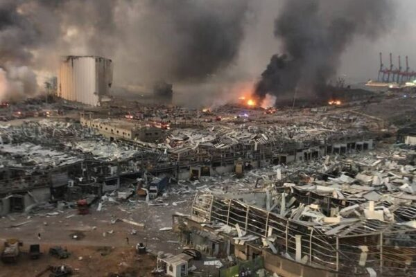 لحظه انفجار بیروت
