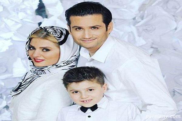 پویا امینی ، همسر و پسرش در بیستمین سالگرد ازدواجشان
