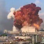 سکانس واقعی از فیلمبرداری عروسی در لبنان هنگام وقوع انفجار