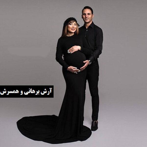 آرش برهانی و همسرش