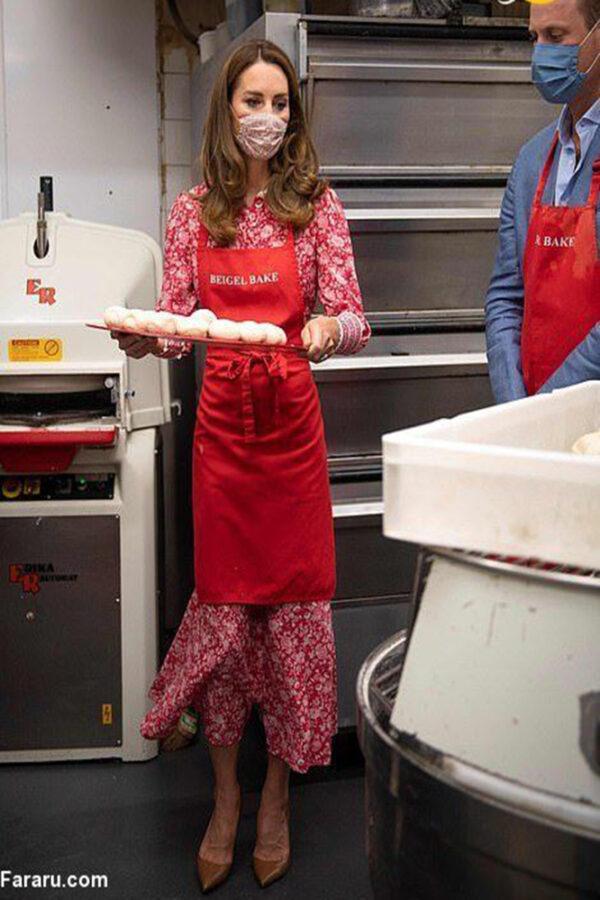 نان پختن نوه ملکه