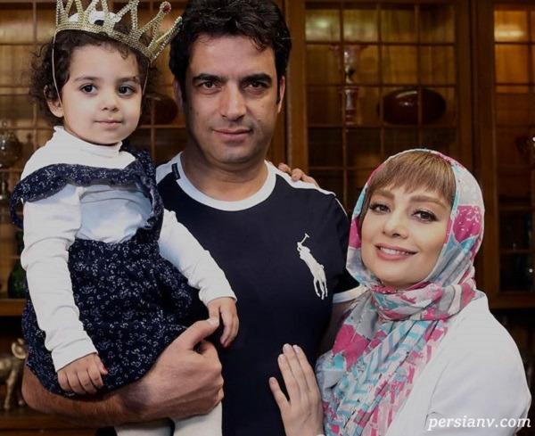 ست لباس منوچهر هادی و همسرش یکتا ناصر در تولد سوفیا