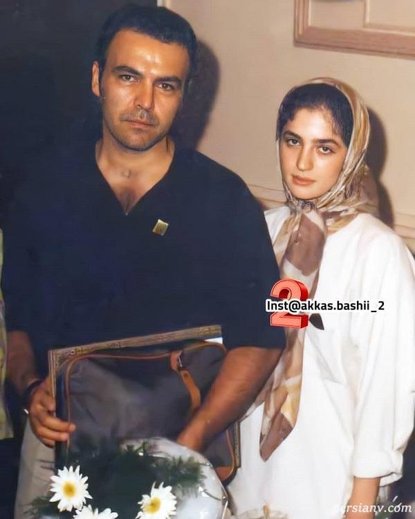 فریبرز عرب نیا در کنار همسر