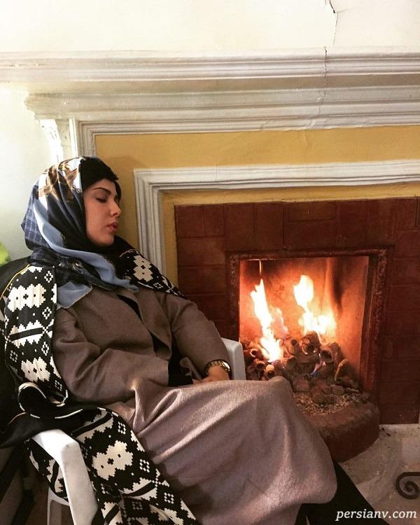 استراحت بازیگر زن