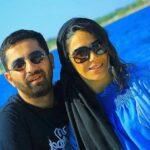 عکس علی سخنگو و سارا نجفی در جشن تولد لاکچری منوچهر هادی