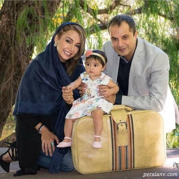 بازیگر زن و خانواده اش