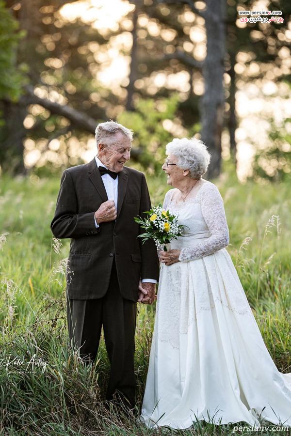 شصتمین سالگرد ازدواج زوج عاشق