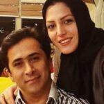 المیرا شریفی مقدم مجری شبکه خبر با پسرانش در پارک