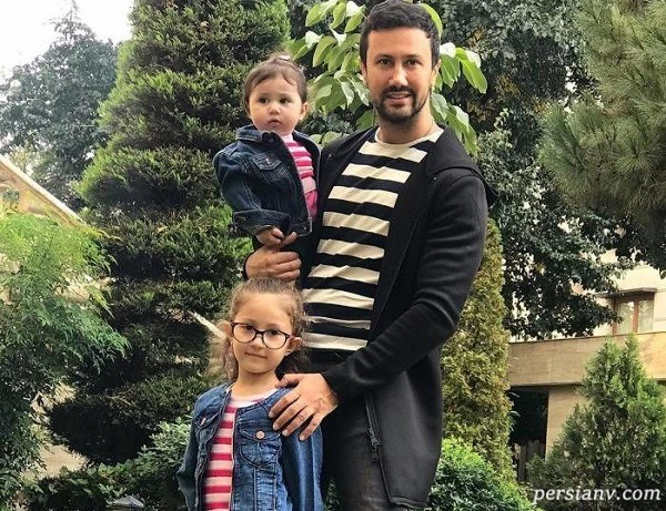 بازی شاهرخ استخری با دخترانش و پسر ژاپنی در خانه