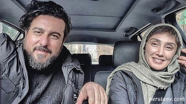 هدیه تهرانی بدون آرایش با چهره نچرال در کنار دو بازیگر معروف