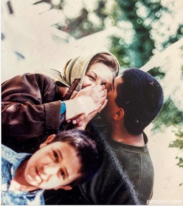 مانی رهنما و مادرش