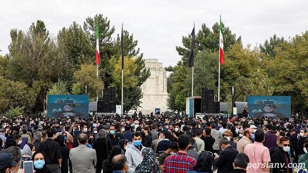 مراسم تدفین استاد آواز ایران