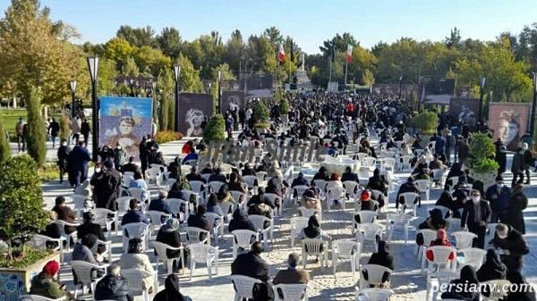 مراسم تدفین خسرو آواز ایران