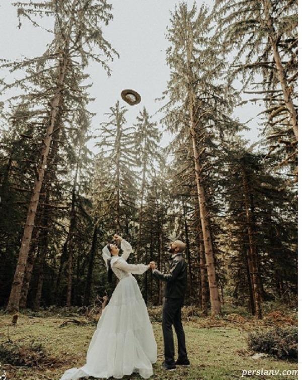 عروسی بازیگر زن