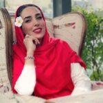 ست قرمز و مشکی لباس سوگل طهماسبی بازیگر نجلا