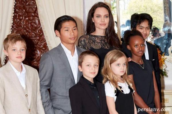 آنجلینا و بچه هایش