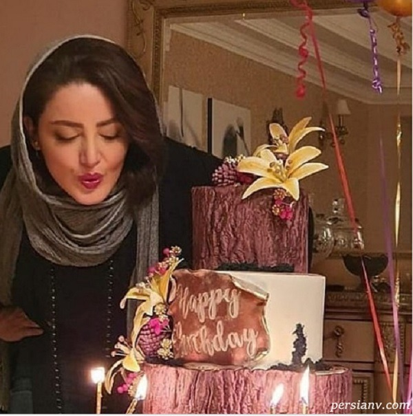 کیک تولد زیبای شیلا خداداد