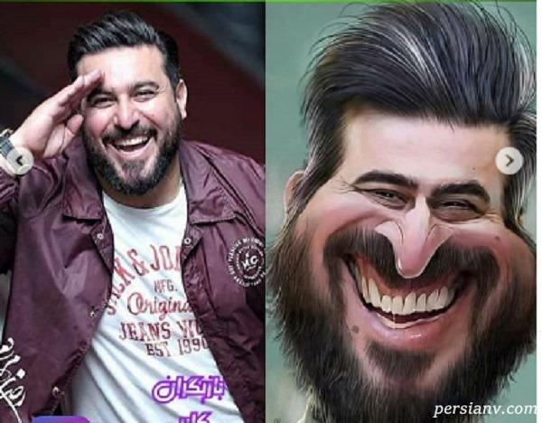 کاریکاتور بهرام افشاری