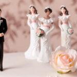 عکس مرد جنجالی با شش زن باردارش در عروسی یک بازیگر