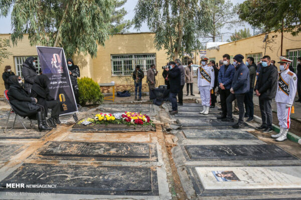 مراسم خاکسپاری دوبلور پیشکسوت
