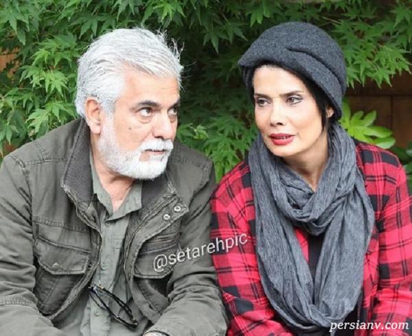 حسین پاکدل و همسرش