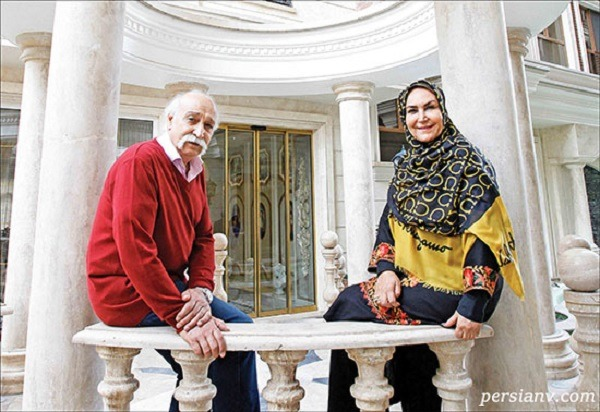 مهوش صبرکن و همسرش