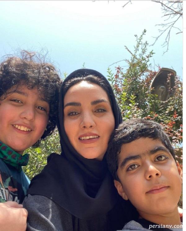 مرجان شیرمحمدی و پسرش
