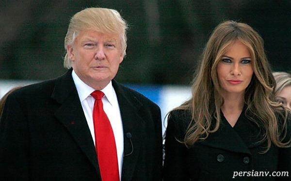حرکت عجیب ملانیا ترامپ در مراسمیادبود