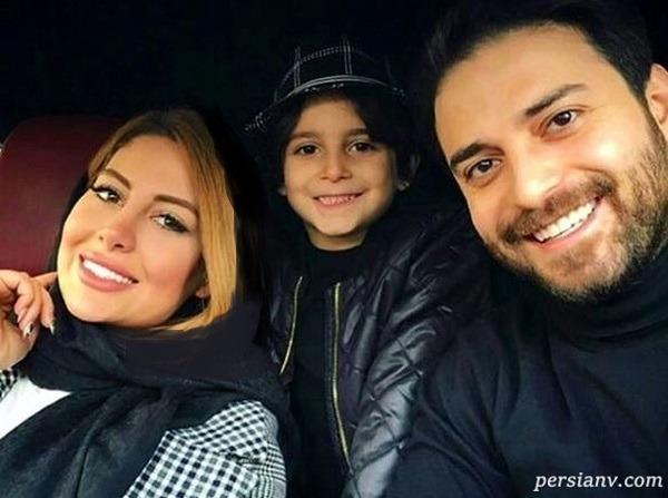 کیش گردی پریا همسر بابک جهانبخش همراه با دختر و پسرش