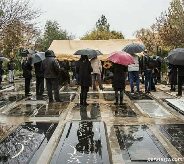 تصاویری از مراسم تشییع پرویز پورحسینی