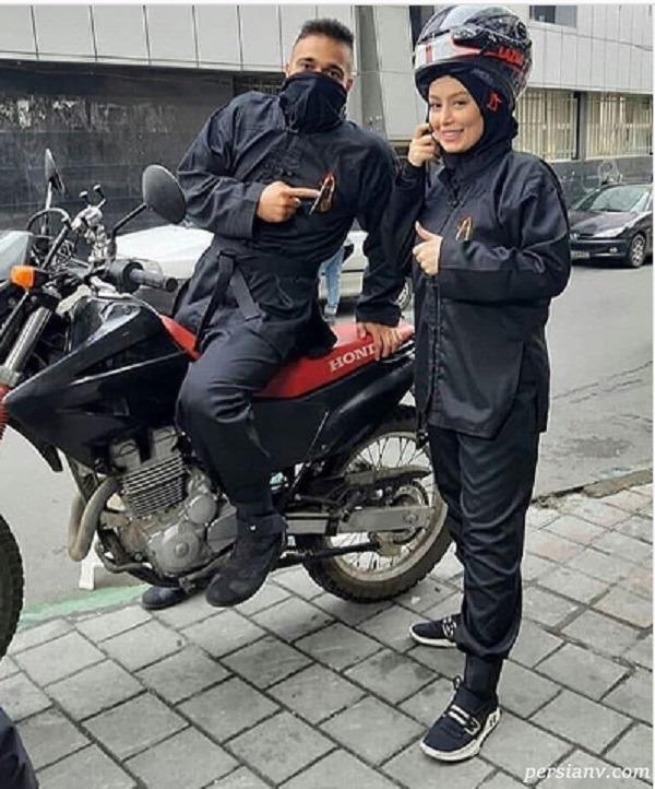 عکس موتورسواری سحر قریشی