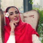 ست قرمز مشکی لباس های سوگل طهماسبی بازیگر
