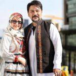 ست طرح یلدایی گردنبند و گوشواره باران خوش اندام همسر امیرحسین صدیق