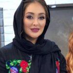 پیام تبریک الهام حمیدی در شب یلدا با تم نارنجی در خانه اش