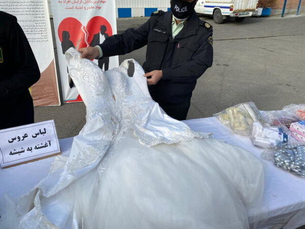 لباس عروس شیشه ای