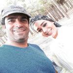 عکس دو نفره منوچهر هادی و سانیا سالاری در پایان سریال گیسو
