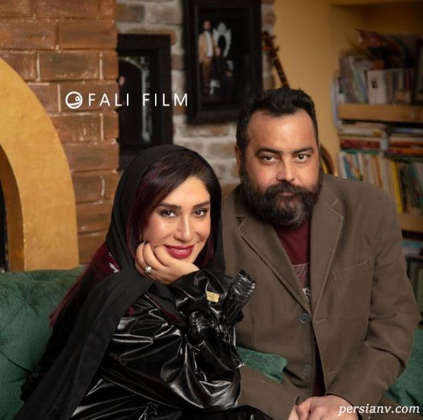عکس نسیم ادبی و همسرش