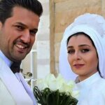 عکس ساره بیات و حامد بهداد بازیگران سریال دل در کنار مادرشان