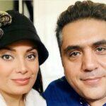 آواز خوانی صبا راد و همسرش مانی رهنما در روز زیبای برفی